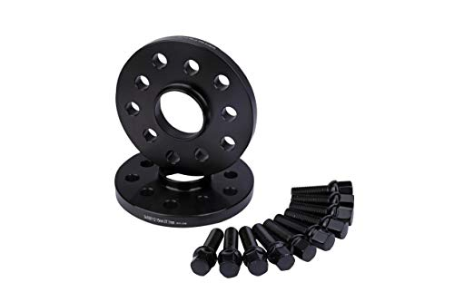 Wheel Spacer Set of 2-5x100 Pattern - 5x112mm Hub Centric 57.1mm Bore - M14 x 1.5 Studs 15mm Thick - Compatible with Audi and Volkswagen - A3, A4, A5, Golf, GTI, Jetta, Passat, Tiguan, Bettle