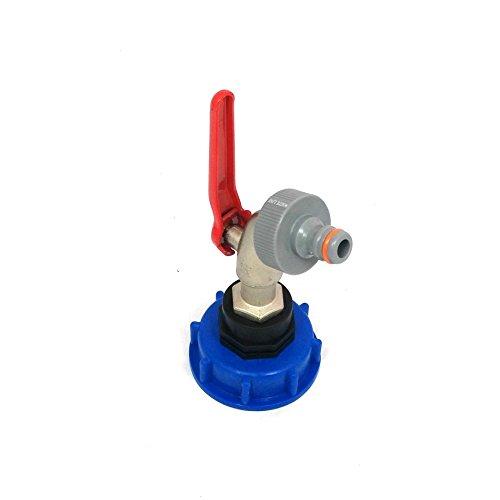 Robinet à boisseau de sortie CMTech GmbH Montagetechnik CMS60133MK99 - Sphérique - Pour réservoir d'eau de pluie de type GRV - Connecteur adapté au système Gardena