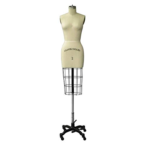 Adult Female Size 2 Half Body Professional Dress Form Pinnable Mannequin for Sewing with Right Arm #SIZE2
