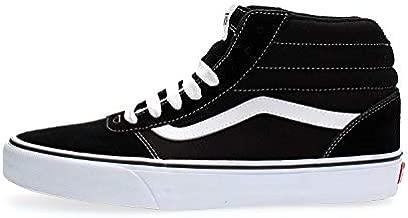 Vans Men's Hi-Top Trainers, Black Suede Canvas Black White C4r, 9 UK
