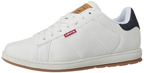 Levi's Herren Declan Millstone 2 Tone Sneaker, Weiß (Regular White 51), 44 EU