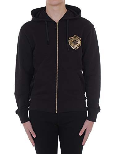 VERSACE Jeans Couture B7 GWA72F 30453 - Sudaderas con capucha para hombre, color negro, talla M