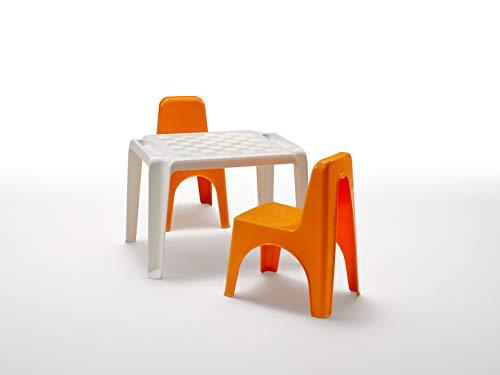BICA Set di Sedie e Tavolo per Bambini, Polipropilene, Mida Arancione