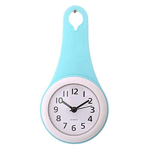 Valink Reloj de ducha, reloj de pared de la cocina del cuarto de baño del reloj de la ducha silenciosa con la ventosa