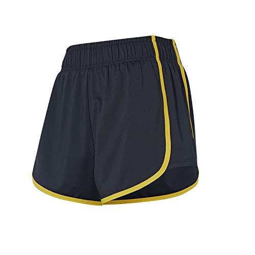Pantalones cortos antideslumbrantes transpirables de verano para mujer, pantalones cortos deportivos ajustados con levantamiento de cadera, cintura elástica, gimnasio, Yoga, entrenamiento, para Medium