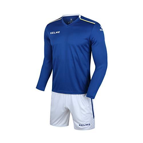 Kelme Herren Fußball Langarm Trikot Team Trainingsanzüge (X-Small, Blau)