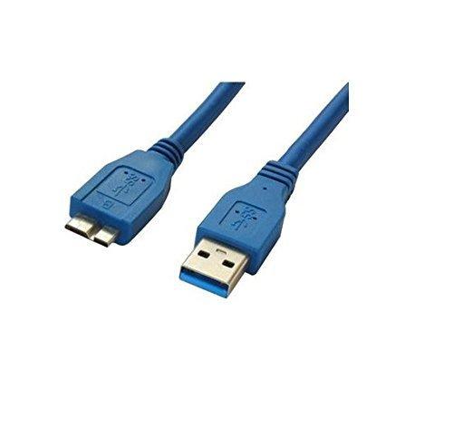 Cabo Usb-A X Micro Usb 3.0 Para Hd Externo 80cm Azul