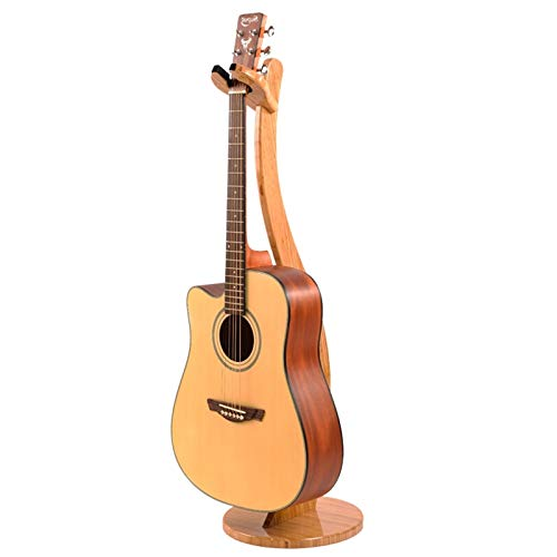 Miwayer Guitar Stand-Handcrafted from Real Bamboo, Solid Bamboo Floor Stands For Acoustic, Classical, Electric Guitar,Ukulele (Guitar Hook)