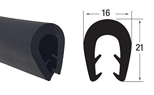 KS-TPE5-8S Kantenschutz aus Thermoplast (TPE) von SMI-Kantenschutzprofi - Schwarz- Klemmprofil - einfache Montage, selbstklemmend ohne Kleber – Klemmbereich 5-8 mm (10 m)