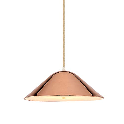 TopDeng E27 Metalico Moderno Luz lampara del techo candelabro, Creativo Moderno Simple Isla de cocina [mesa de comedor] Dormitorio Sala de estar Colgante de luz-Or Rose