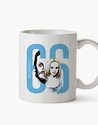 N\A Tazas de cerámica Buffalo '66 Película Crimen Comedia Drama Película Billy-Brown Layla Jan-Brown Regalos Tazas Café Té 11oz