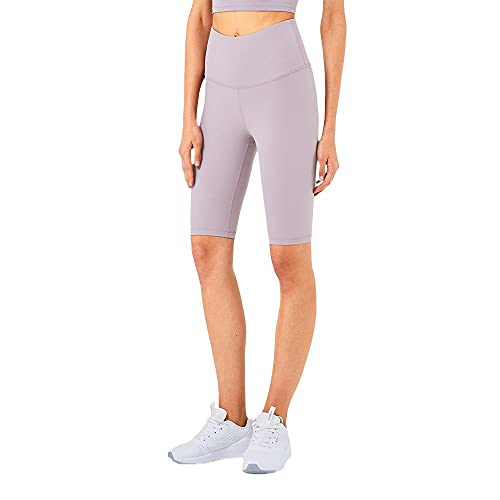 Pantalones cortos deportivos de alta resistencia para mujer, morado, XL