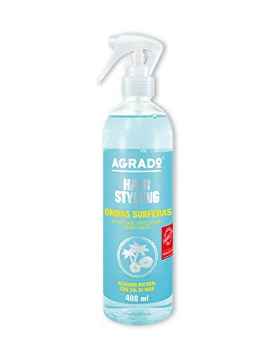Agrado Ondas Surferas, Spray de agua salada para el pelo (Cabello natural), 400 ml, 1 unidad