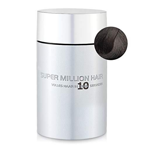 Super Million Hair - Fibres Capillaires Densifiantes pour Cheveux Clairsemés, Chute de Cheveux, 25g, Brun Foncé (2)