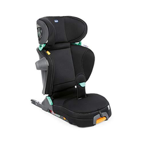 Chicco Fold & Go i-Size Auto Kindersitz 100-150 cm, Verstellbarer Kinderautositz für Kinder von ca. 3-12 Jahren (etwa 15-36 kg), Falt- und Tragbar, mit Seitenschutz, Verstellbare Höhe und Breite