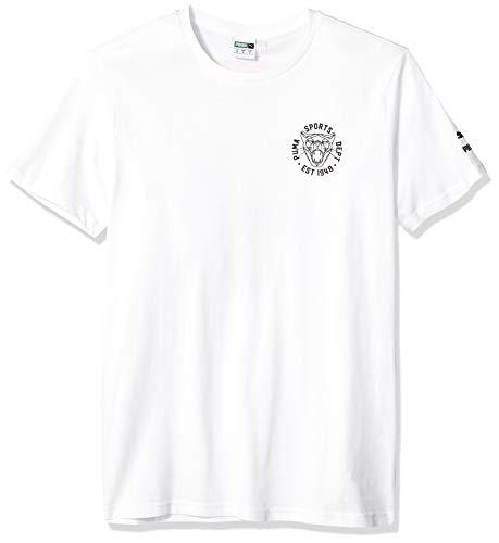 PUMA Graphic Vintage Cat tee Camiseta, Blanco White, XXL para Hombre