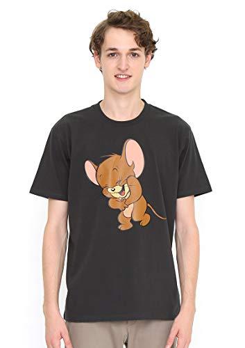 (グラニフ) graniph コラボレーション Tシャツ/ラフィング ジェリー (トムとジェリー) (スミクロ) メンズ ...