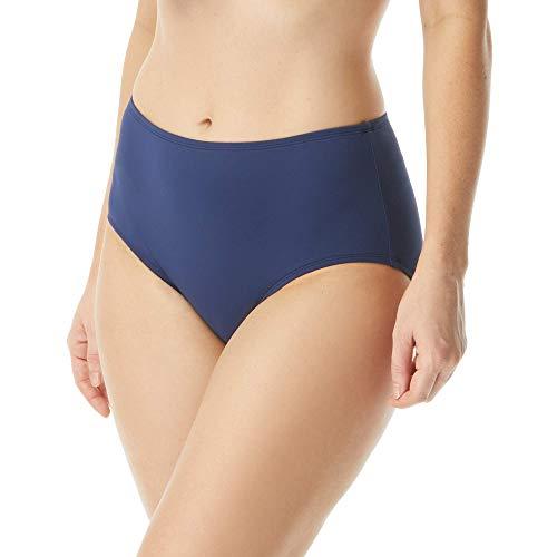 High Waisted Chloe Bikini Bottom — Modest, Full Coverage Swimsuit Bottoms, Admiral, 10
