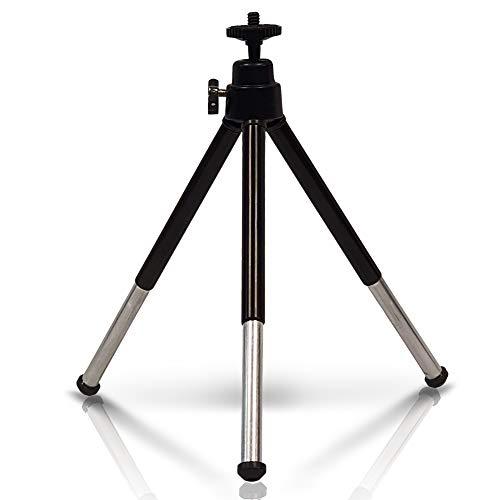 Metall Mini Stativ verstellbar - Handy Tripod mit 360° Kugelkopf Stativ und 1/4 Zoll Gewinde, Smartphone Tripod,Beamer Stativ,Handy Halterung Stativ - Tischstativ Kamera, Stativ für Webcam
