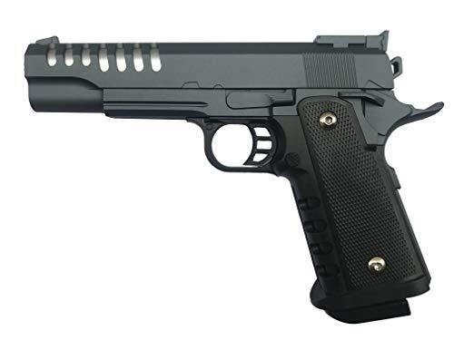 Softair Pistole Voll Metall Rayline RV16 Silver Gray (Manuell Federdruck), Nachbau im Maßstab 1:1, Länge: 22cm, Gewicht: 450g, Kaliber: 6mm, Farbe: Silber Grau - (unter 0,5 Joule - ab 14 Jahre)