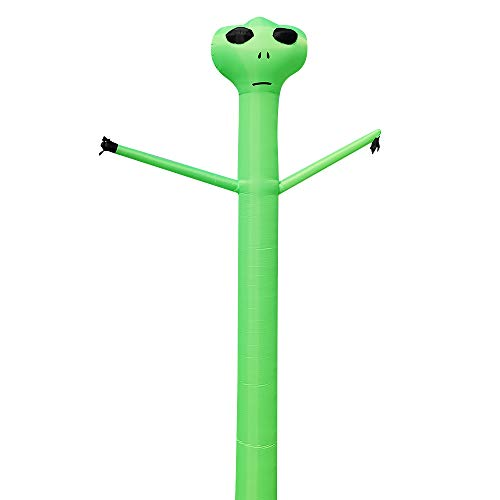 20ft Inflatable Dancer Puppet Arm Flailing Tube Man Wacky Wavy Wind Flying Stand Out Advertising Sky Air for 18 inch/45cm Blower, Not Including Blower (Aliens, 6M(20FT))