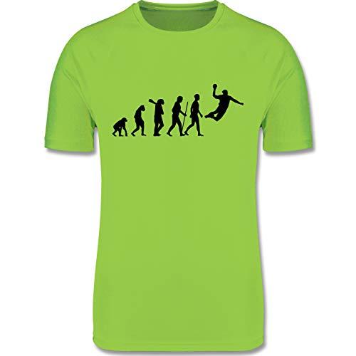Shirtracer Evolution Kind - Handball Evolution Herren - 164 (14/15 Jahre) - Limonengrün - Handball Kinder - F350K - atmungsaktives Laufshirt/Funktionsshirt für Mädchen und Jungen
