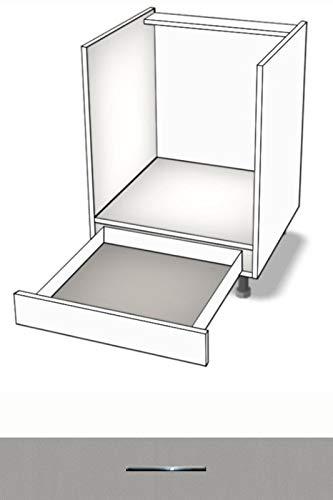 Premium-Ambiente AQEEPA0005 Unterschrank Herdumbau Schublade METALBOX Softclosing 60cm breit FE (05 Aluminium)