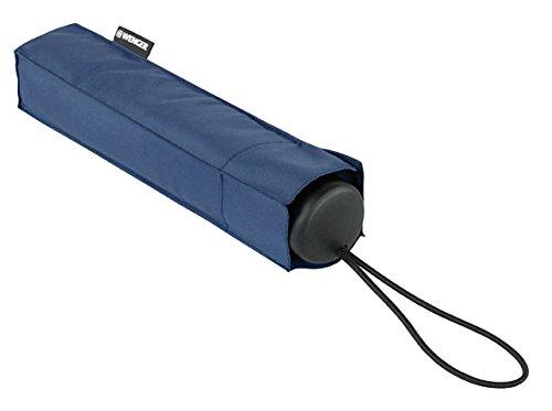 Wenger Taschenschirm Manuell, Stahlstiel Regenschirm, Blau