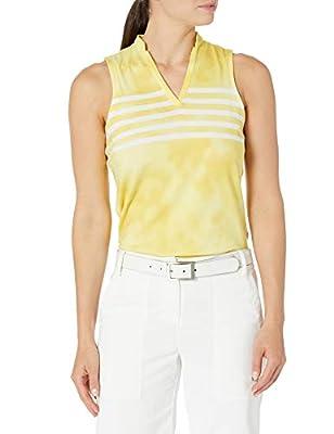 PUMA Golf Women's 2020 Tie Dye Sleeveless Polo, Super Lemon, Medium