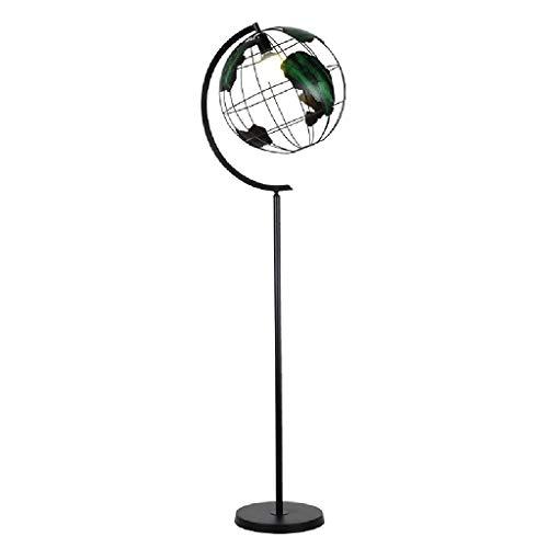 Nórdico Simple Moderna Sala de Estar lámpara de pie Personalidad Creativa Hierro Forjado Dormitorio cabecera Estudio Globo Vertical lámpara de Mesa