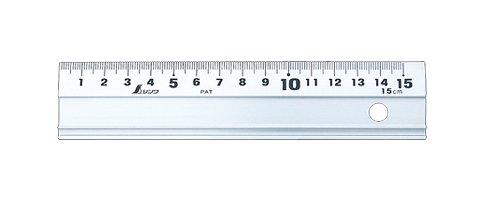 シンワ測定(Shinwa Sokutei) アルミ直尺 アル助 15cm スベリ止なし 65498