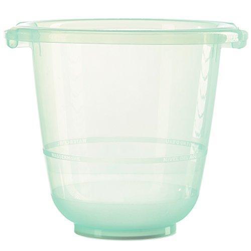 tummy tub das Original - Badeeimer kippsicher, rutschfest und schadstofffrei, grün, für Kleinkinder