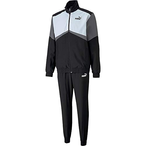 PUMA CB Retro Suit Woven Cl Chándal, Hombre, Black White, XL