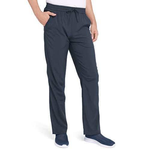 CAMEL Men's Hiking Pants Drawstring Sweatpants Travel Quick-Dry Lightweight Pants Breathable Camping Sweatpants Summer Gray