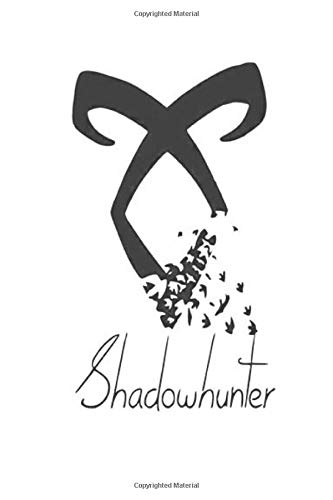 Shadowhunter: Symbol Wide Ruled Notebook, Journal for Writing, Size 6