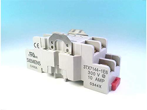 FURNAS ELECTRIC CO 3TX7144-1E6 Panel/DIN Rail, Relay Socket, Screw Term, 1 OR 2P