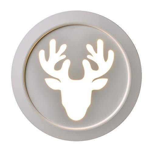 YINGGEXU Lámpara de Pared de Aplique de la Pared de la Vendimia Dormitorio nórdico Pasillo LED Luces de la Escalera Balcón Sala de Estar lámpara de Pared de acrílico, Blanca Decorativo