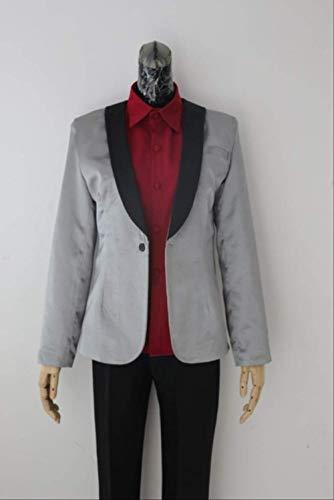 WSJDE Batman Suicide Squad Joker Anzug Cosplay Halloween Party Kostüm Uniform Hemd Jacke Hosen Komplettset Maßanfertigung L Weibliche Größe