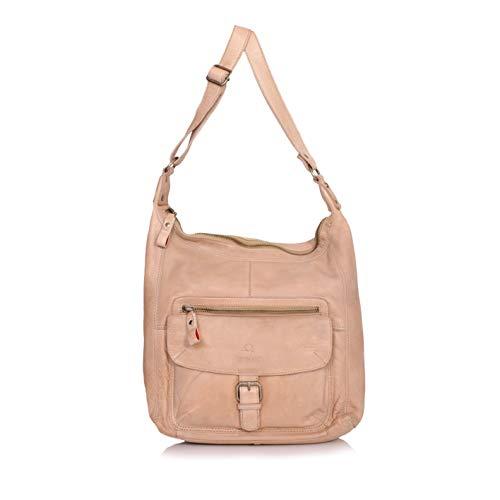DONBOLSO® Handtasche Paris I Damenhandtasche aus Nappaleder I Vintage Umhängetasche I Schultertasche mit Schlüsselband I Creme