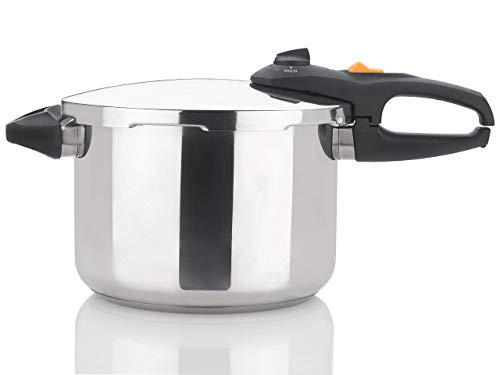 Zavor DUO 8.4 Quart Multi-Setting Pressure Cooker and Canner with Accessories - Polished Stainless Steel (ZCWDU03) (Renewed)