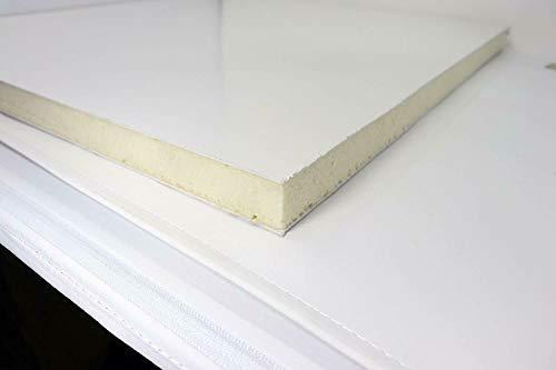 Sandwich-Paneel in cm Kunststoff PVC Platte Sandwichplatten weiss 24 mm dick (50x100 cm)