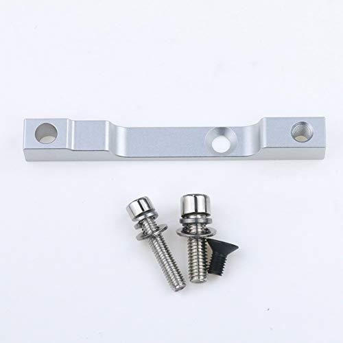Linghuang - Adaptador de freno de disco para asiento de conversión de freno a aceite, adaptador de conversión de conexión para Xiaomi M365/M365 Pro Patinete Accesorios de Scooter, plata