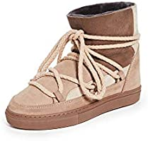 INUIKII Women's Patchwork Shearling Sneakers