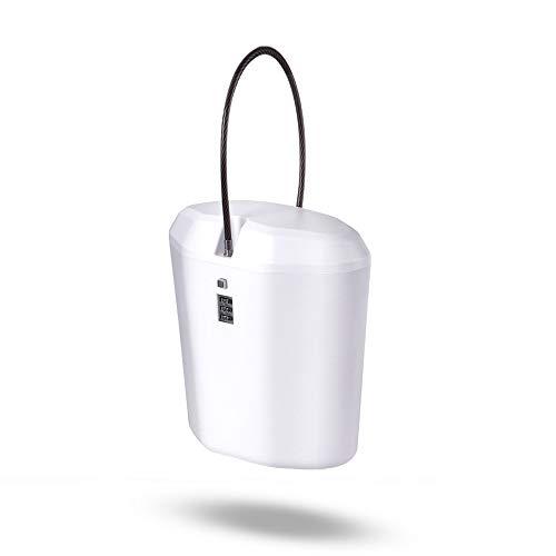 Portable Mini Cipher Box Indoor/Outdoor Lock Box - Sichern Sie Ihre Sachen während der Reisen (Weiß)