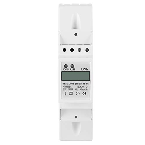 XTM35SA Energy Meter Digital LCD Single Phase 2 Wire KWh Meter DIN-Rail Electric Meter 10(40) A