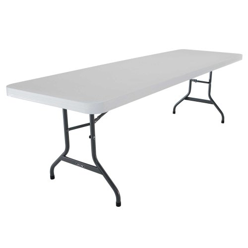 Lifetime 42980 Folding Utility Table , 8 Feet, White Granite, Pack of 4