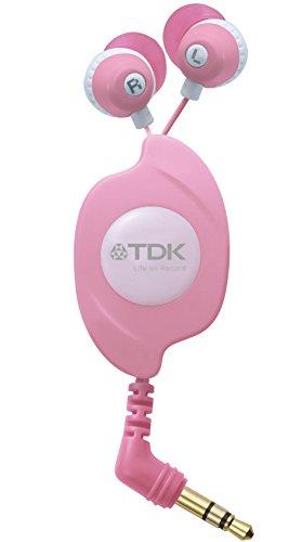 TDK LoR 巻き取り式イヤカナル CLEF-FINE ライトピンク TH-EC130LPK