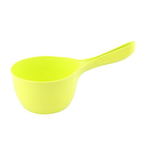 sourcingmap schöpfkelle Messlöffel Küche Plastik Griff Rund Kopf Wasser Halter gießen Pfanne Scoop Grün gelb