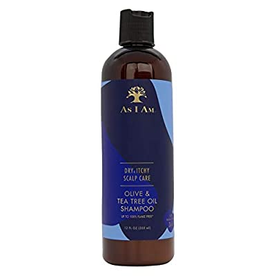 As I Am Dry & Itchy Scalp Care Shampoo - 12 ounce - Fights Dandruff and Seborrheic Dermatitis - Enriched with Zinc Pyrithione, Olive Oil, and Tea Tree Oil