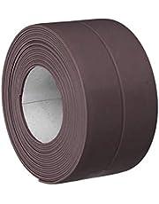 Meriglare Afdichtingsband en sierlijst, zelfklevend, flexibel, 3,2 m – dekt ruimtes rond muren, plafonds, plinten, platen, toonbanken, rug – koffie